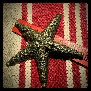 Brass Starfish Paperweight
